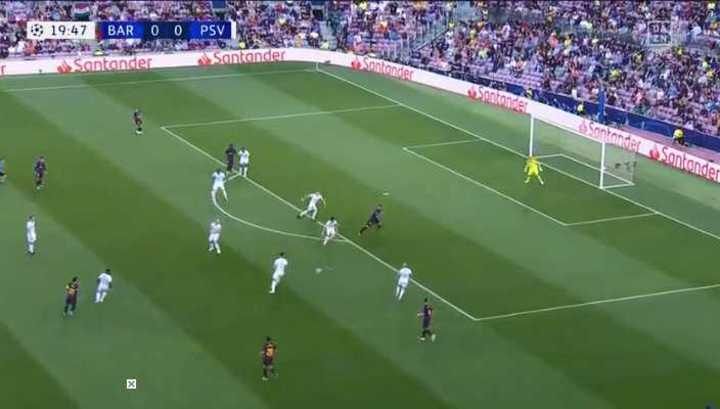 Gran pase filtrado de Messi a Suárez