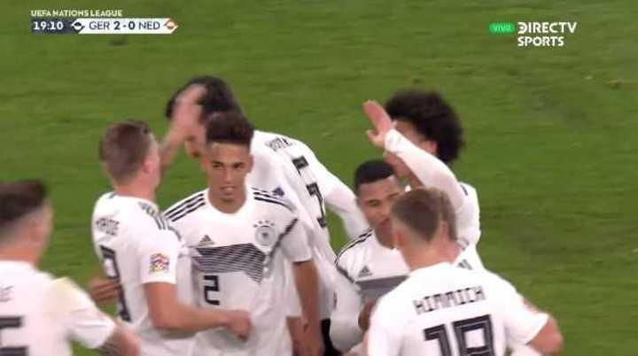 Los alemanes marcaron el 2 a 0