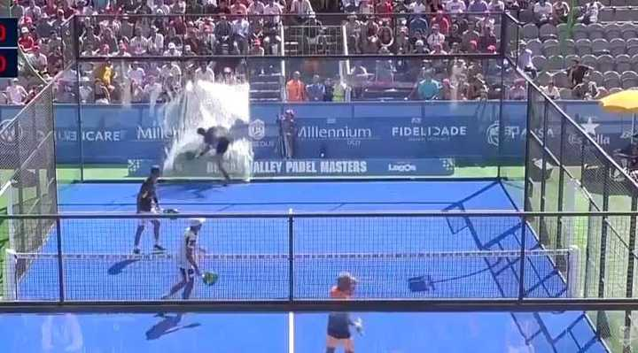 ¡Tremendo accidente en el padel!