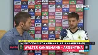 Kannemann habló del partido con Brasil