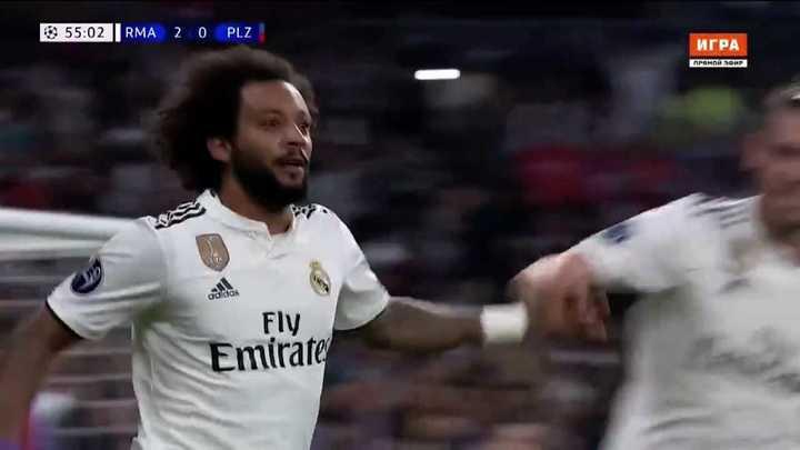 Golazo de Marcelo para poner el segundo del Real