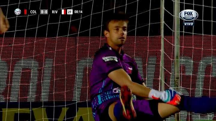 Burián sacó lo que era gol del Millonario