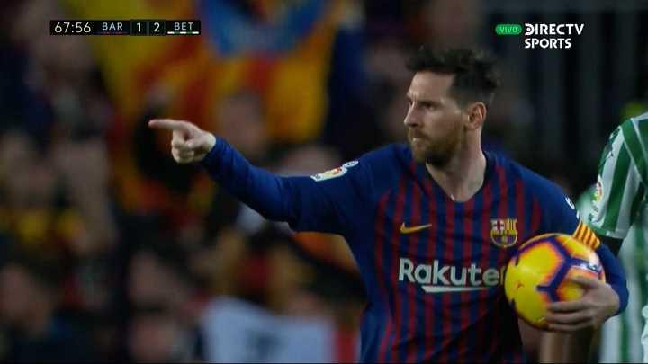 Messi descontó de penal