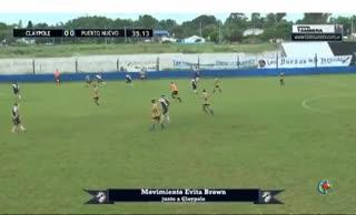 El 1-0 de Puerto Nuevo a Claypole