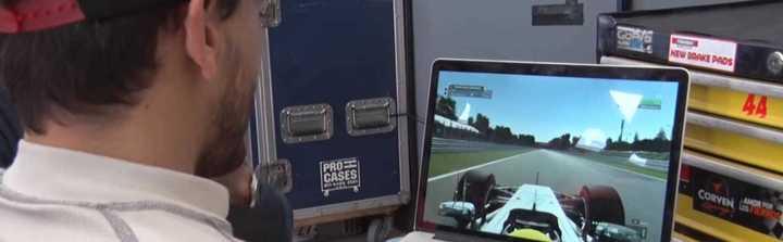Los pilotos se animaron al juego de F1