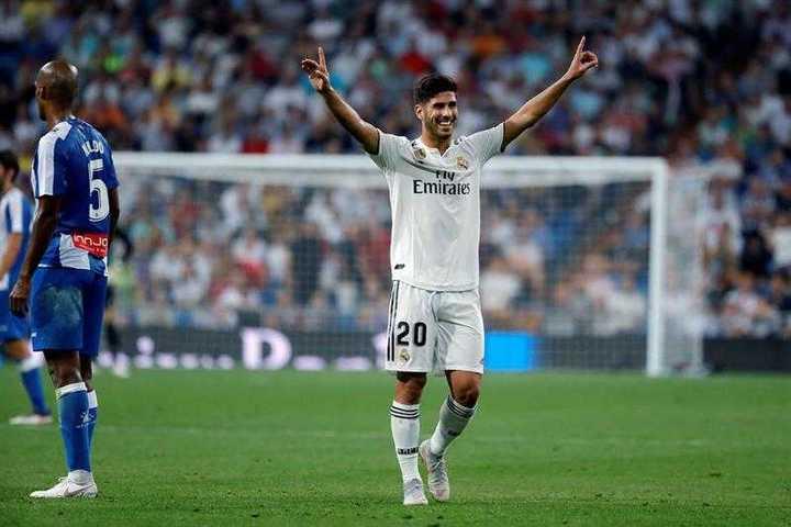 Asensio hizo el último gol del Real Madrid