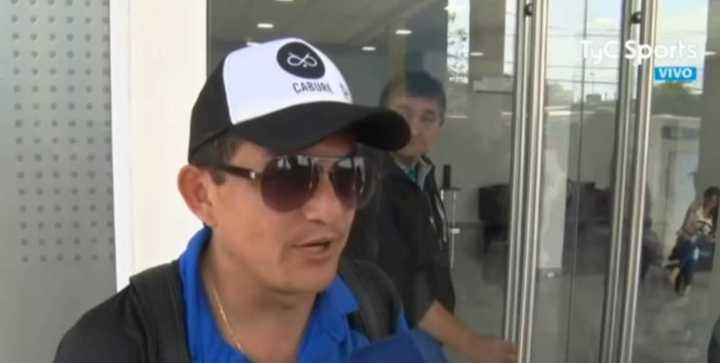 El Pulga Rodríguez se divirtió tras el partido con Lanús