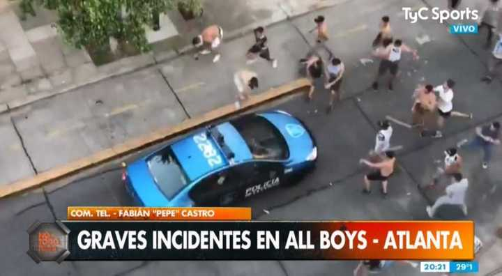 Graves incidentes en All Boys - Atlanta