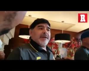 ¡El Diego retó a los periodistas!