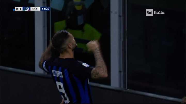El VAR confirmó un penal para el Inter que Icardi transformó en gol