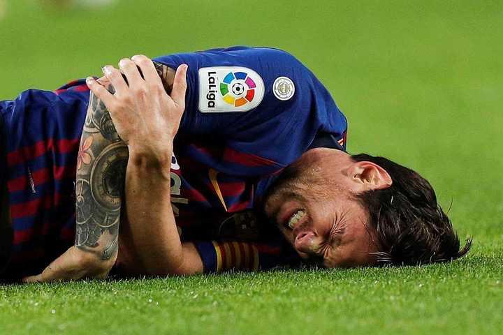 Messi fue al hospital por su lesión