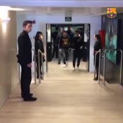 Así llegaba Messi al Camp Nou
