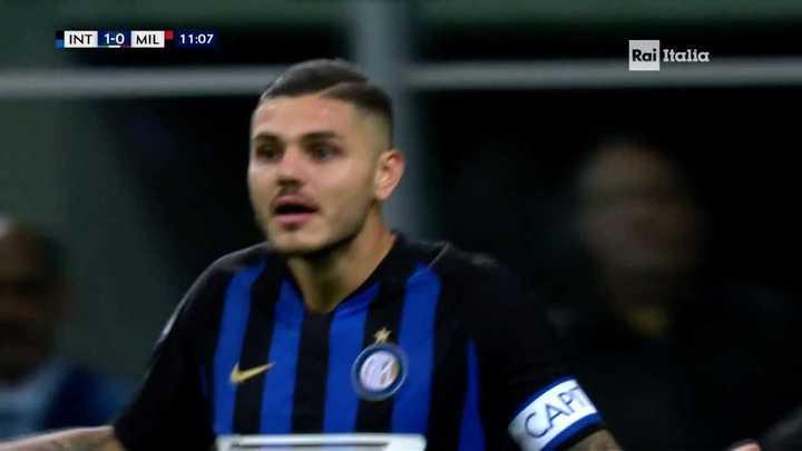 Le anularon un gol a Icardi