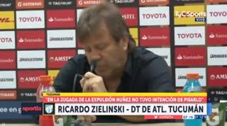 Zielinski elogió a sus jugadores pese a la derrota