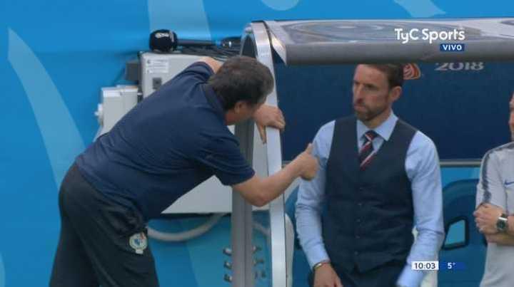 Bolillo Gómez le pidió disculpas al técnico de Inglaterra