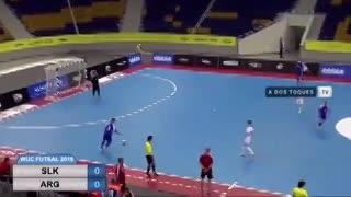 Argentina goleó 7-0 a Eslovaquia