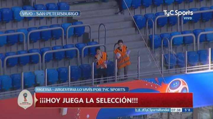 Preparan a puro trapito el estadio donde va a jugar la Argentina