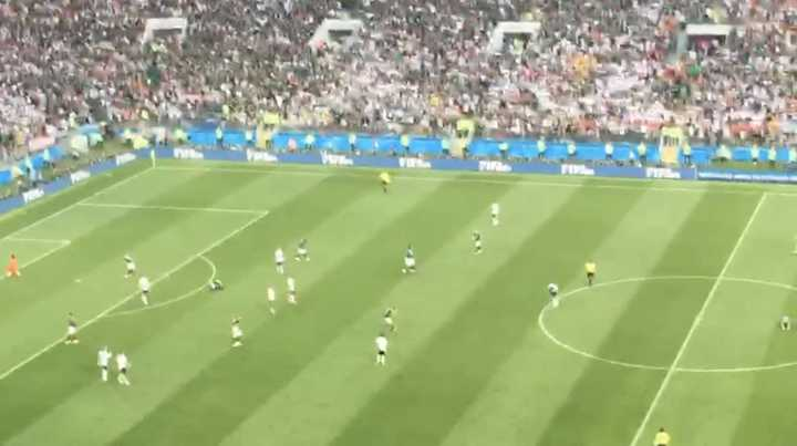 El final del partido y el festejo mexicano desde adentro