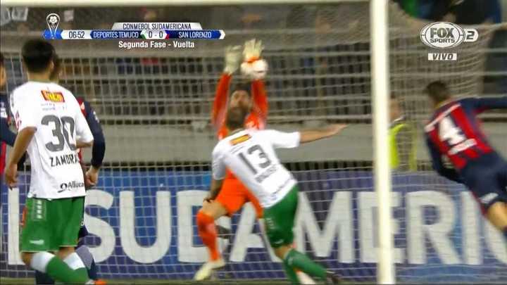¡Tremenda la pelota que sacó Navarro!