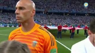 El gesto de Messi durante el himno