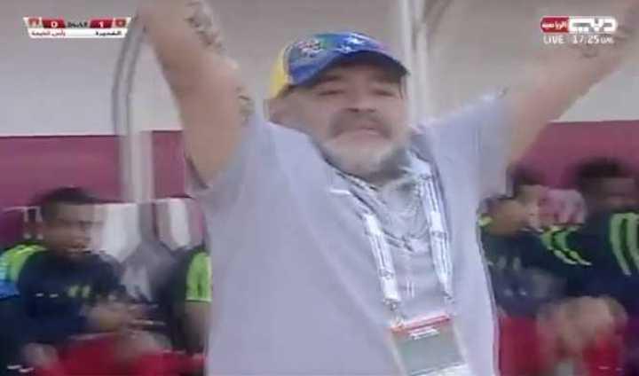 Los goles de Carando y los festejos de Diego