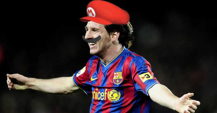 Super Mario Messi