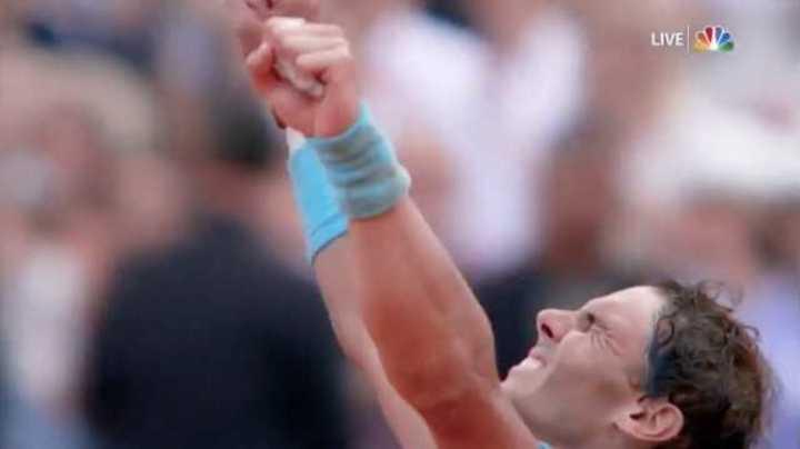 El último punto de la victoria de Nadal en Roland Garros