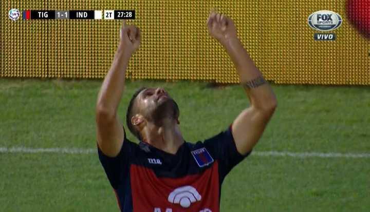 González lo empató para Tigre