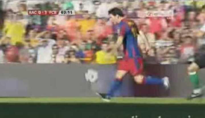 Messi y el tercer gol más rápido