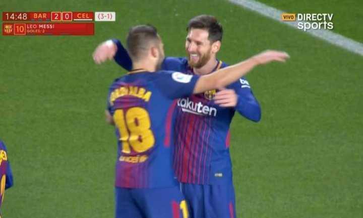 ¡Doblete de Messi!