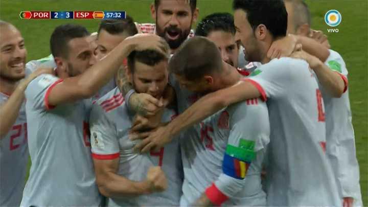 Nacho hizo el tercero de España