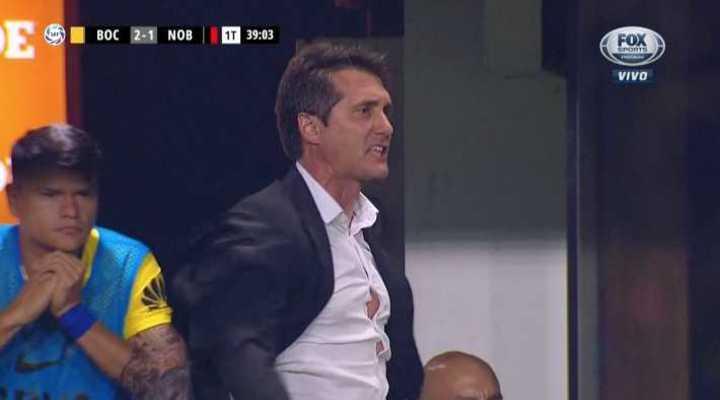 La calentura de Guillermo tras el gol de Newell's
