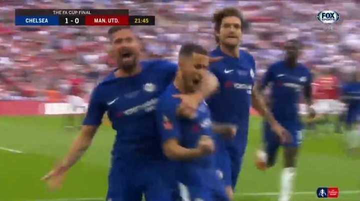 El Chelsea marcó el primero de penal