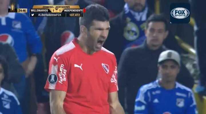 Gigliotti lo empató para Independiente