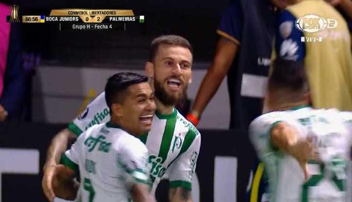 Lima marcó el segundo de Palmeiras