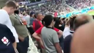 El decisivo gol de Inglaterra en el Mundial, desde la tribuna