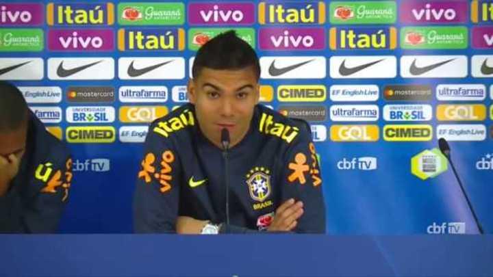 Casemiro dijo que partiría a un compañero de la selección brasileña