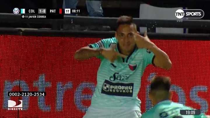 Correa puso el 1 a 0 para Colón
