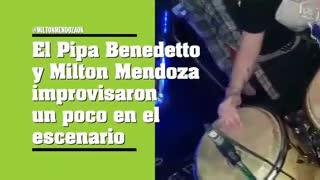 Pipa Benedetto y Milton Mendoza juntos en el escenario