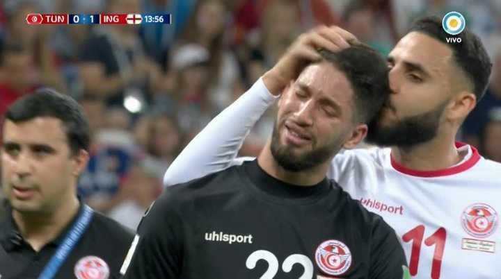 El llanto de Hassen tras quedar lesionado