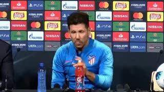 Simeone habló en conferencia de prensa