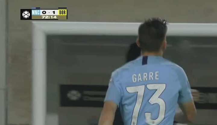 El debut de Benjamín Garré en el Manchester City