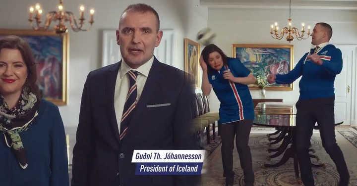 El Presidente de Islandia busca hinchas para su selección