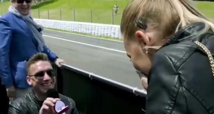 Propuesta de casamiento en la F1