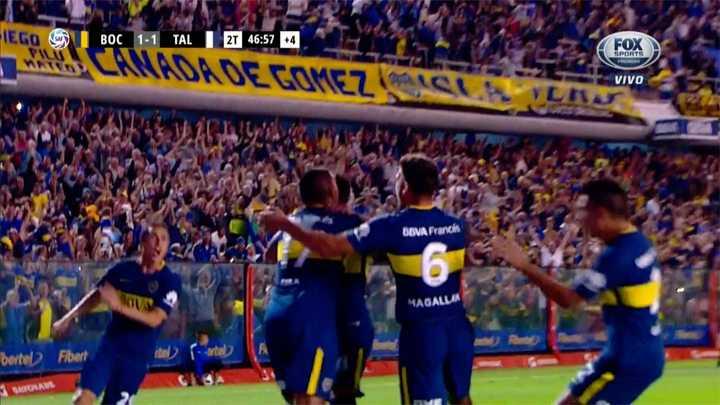 Pablo Pérez marcó el agónico gol de Boca