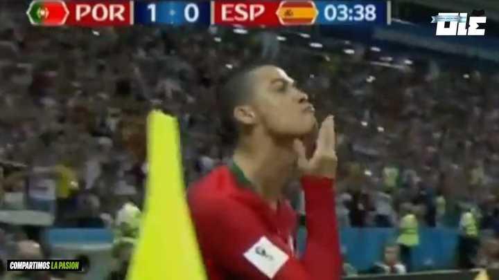 Ronalo, la barbilla y Messi