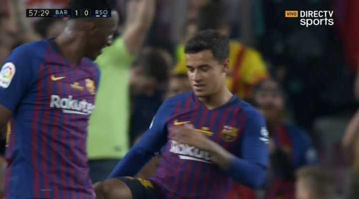 ¡Tremendo golazo de Coutinho!