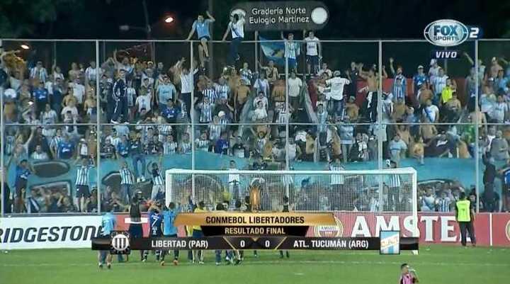 El festejo de Atlético Tucumán