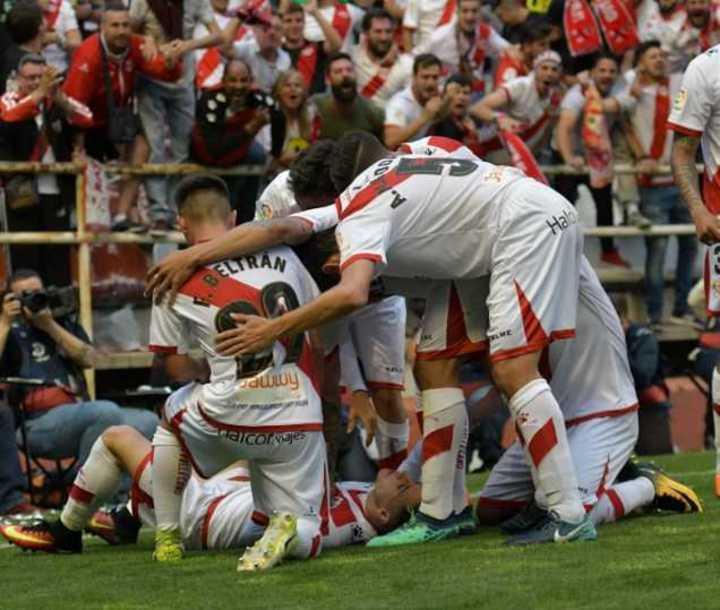 El gol del ascenso del Rayo Vallecano