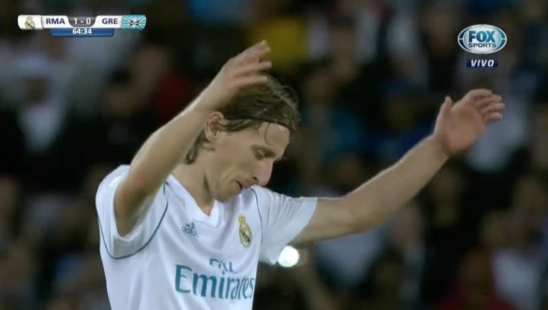 El palo le negó el segundo a Modric